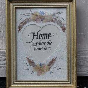 Other - Home Is Where The Heart Is Pressed Flower F